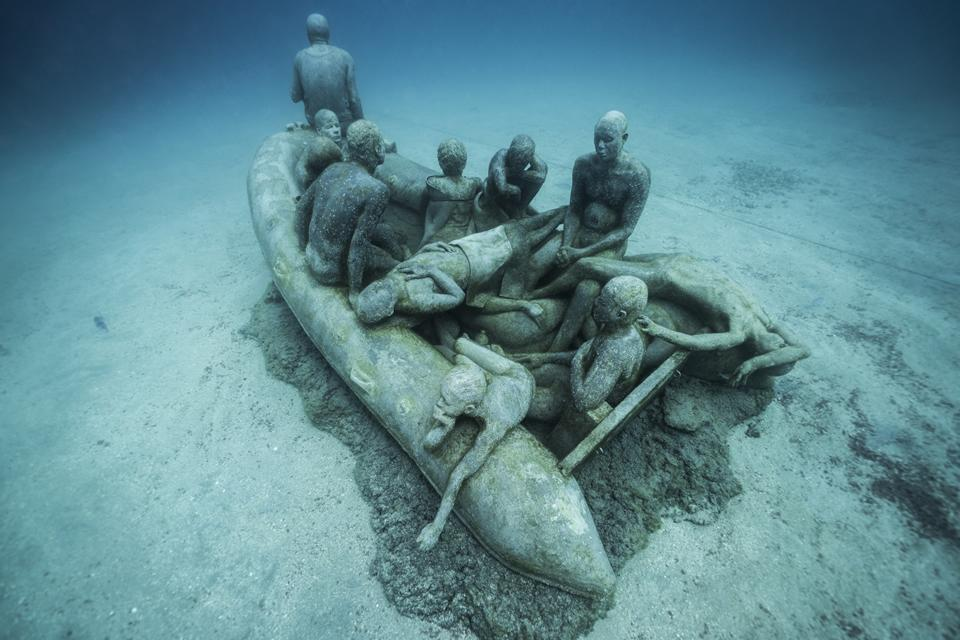 Museo Atlantico_Lanzarote_Lampedusa_growth_00678-2_Jason deCaires Taylor_Sculpture