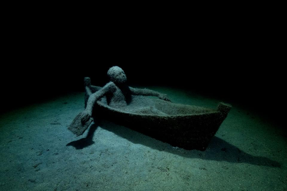 Museo Atlantico_Lanzarote_growth_night_04672_Jason deCaires Taylor_Sculpture