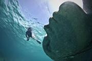 Ocean Atlas_Bahamas_clean_woman_Jason deCaires Taylor_Sculpture