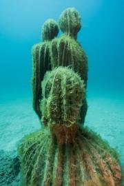 Museo Atlantico, Lanzarote, Tubular Cactus Jason deCaires Taylor Sculpture