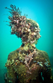 Vicissitudes_Grenada_portrait_coral feathers_Jason deCaires Taylor_Sculpture